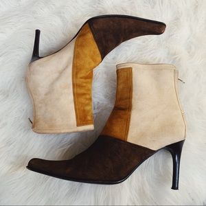 GOFFREDO FANTINI Suede Pointed Toe Ankle Boots